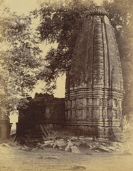 Rear view of large temple at Narayanpur, Raipur District